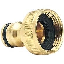 Draper GWB1A/H Expert Brass BSP Garden Hose Tap Connector, 3/4-Inch