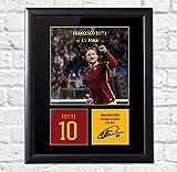 Quadro con foto incorniciata di Francesco Totti dell'A.S. Roma, con autografo