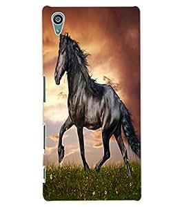 ColourCraft Gracious Horse Design Back Case Cover for SONY XPERIA Z5