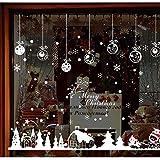GZ-Wohnzimmer-Schlafzimmer-Glasfenster-Hintergrund-dekorativer Wand-Aufkleber des Schnee-Kabinen-Weihnachtsneuen Jahres