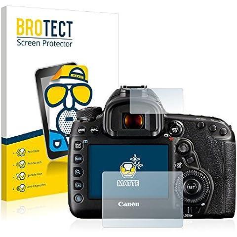 2x BROTECT Matte Protector Pantalla para Canon EOS 5D Mark IV Protector Mate, Película Antireflejos