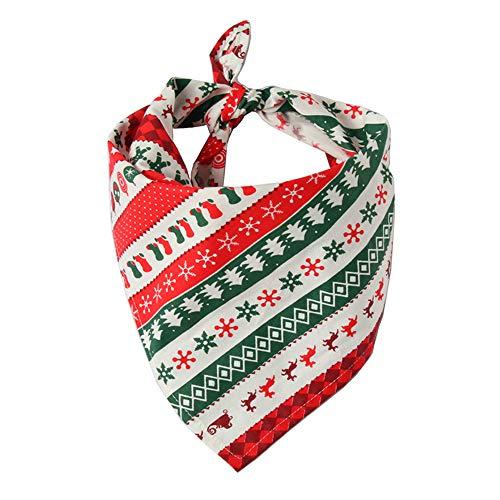 CZZJHLätzchen Weihnachten Haustier Speichel Handtuch Baumwolle Dreieck Schal Hund Schal Katze Lätzchen Schmuck -