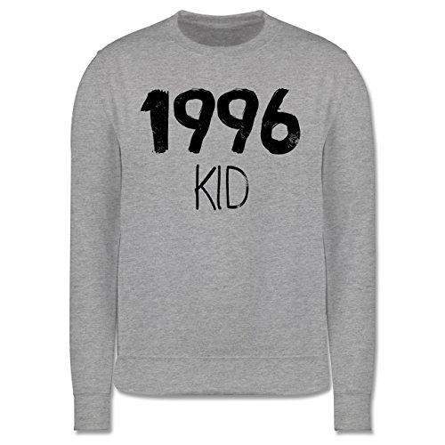 Geburtstag - 1996 KID - Herren Premium Pullover Grau Meliert