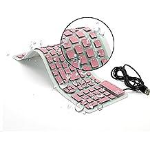 CHINFAI teclado de silicona plegable teclado flexible teclado de enrollar teclado USB teclado de computadora impermeable suave cable de silicona para PC portátil PC portátil