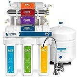 Express agua roalkuv10m 11fase UV ultravioleta + alcalinas + casa sistema de filtrado de agua potable de ósmosis inversa 100GPD RO filtro de membrana-moderno grifo, sin BPA