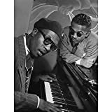 Wee Blue Coo Vintage Photo Music Jazz Legend Thelonious Monk Piano Poster Art Print