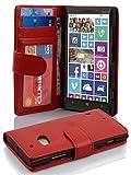 Cadorabo - Book Style Hülle für Nokia Lumia 930 / 929 - Case Cover Schutzhülle Etui mit 3 Kartenfächern in INFERNO-ROT