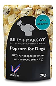Billy + Margot Popcorn treat for dogs, 8 x bags included.