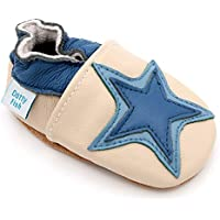 Dotty Fish Krabbelschuhe beige Sterne
