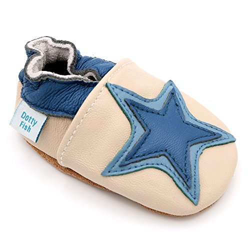5fbeeb2c1d817 Dotty Fish – Soft Leather Baby   Toddler Shoes – Boys   Girls – Cream