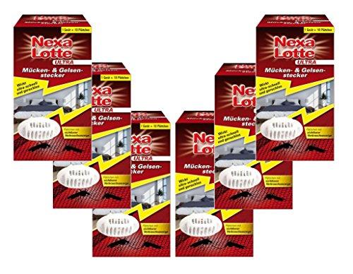 Oleanderhof® Sparset: 6 x SCOTTS Nexa Lotte® Ultra Mücken- & Gelsenstecker Startpackung, 1 Set + gratis Oleanderhof Flyer