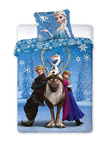 Disney Maxi & Mini-Die Eiskönigin Bettwäsche-Set Bettbezug 140x 200cm + Kissenbezug 70x 80 cm -