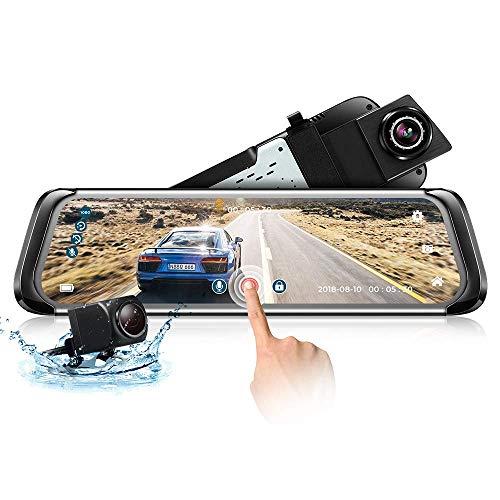 Dashcam Spiegel ZEEPIN mit AHD Rückfahrkamera 9,35'' Full Touchscreen Dual Lens Full HD 1080P Autokamera 140° Weitwinkelobjektiv, Nachtsicht, Bewegungserkennung, G-Sensor