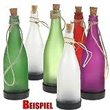 ToCi 6er Set Solarlampen Glasflaschen zum Aufhängen oder Hinstellen