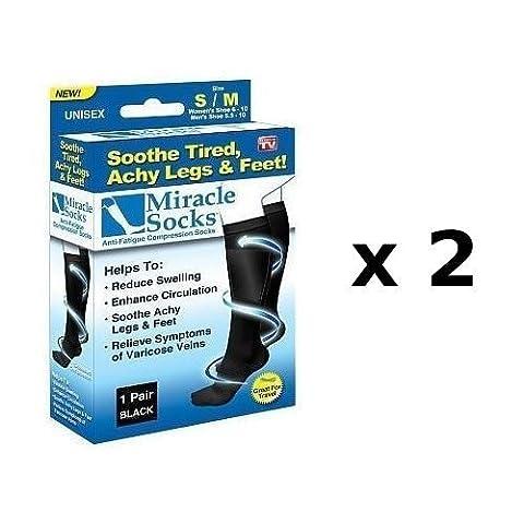 2 paires de chaussettes de compression anti-fatigue pour améliorer la circulation sanguine