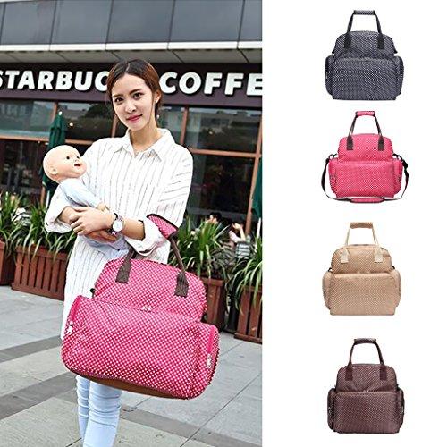 Mama Windel Tasche Babytasche Pflegetasche Tragetasche Wickeltasche Windeltasche Kinder Baby 4 Farben auswahlen - beige weiss beige weiss