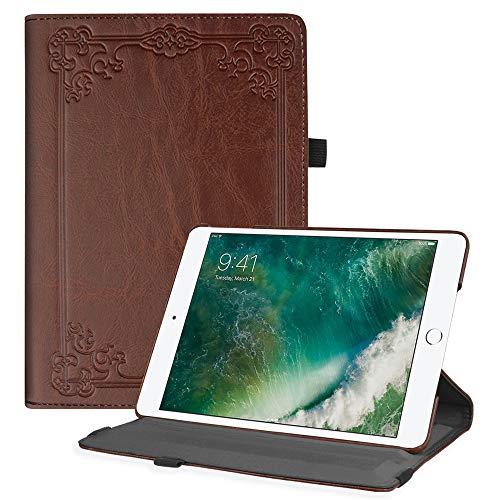 Fintie EPC0338DE iPad 9.7 Zoll 2017 / iPad Air Hülle - 360 Grad Rotierend Stand Cover Case Schutzhülle mit Auto Schlaf / Wach Funktion für Apple iPad 9,7'' 2017 / iPad Air 2 / iPad Air, Vintage Brown