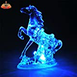 #7: PRO365 LED Crytal Horse Blinking Light Feng Shui Table Decoration Home Décor Battery Included