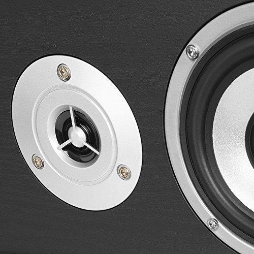 auna Surround Lautsprecher Boxen Set • Surround Sound-System • Heimkinosystem • Bassreflex-Chassis • 335 W RMS • max. 1.150 W Gesamtleistung • Wandmontage möglich • 5 Boxen • inkl. Kabelset • schwarz - 4