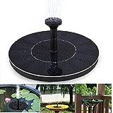 Topnma Fontaine solaire - Pompe à eau solaire 7V /1.4W Pompe flottante Eau Panneau solaire Jardin Arrosage Puissance Fontaine Piscine pour bassin ou jardin flux 150L / H