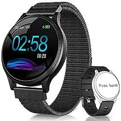 NAIXUES Smartwatch, Reloj Inteligente IP67 Pulsera Actividad Inteligente con Pulsómetro, Monitor de Sueño, Podómetro, Calorías Mujer Hombre para iOS y Android