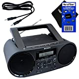 Sony Bluetooth & NFC (Near Field Communications) MP3 CD/CD-R/RW Portable MEGA BASS Stereo Boombox with Digital Radio AM/FM tuner & USB Playback + Auxiliary Cable & HeroFiber Gentle Cleaning Cloth at amazon