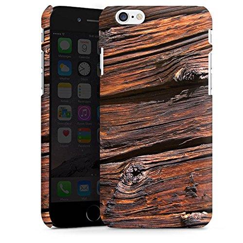 Apple iPhone X Silikon Hülle Case Schutzhülle Verwitterte Holzplanken Holz Look Holzboden Premium Case matt