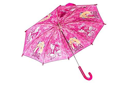 Ombrello bambina lungo PERLETTI BARBIE fantasia rosa LOGATO manuale Q749