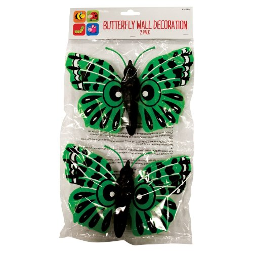 Invero® - Confezione da 2 farfalle giganti da parete o da recinto, decorazione giardino