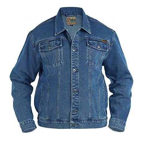 Große Größe Herren Denim Jeans Jacke Duke Trucker London West Steinwäsche Mantel - Stonewashed, King 3XL, Stonewash -