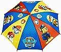 Regalo+ PATRULLA CANINA (paw patrol) 38cm. Multicolor paraguas con colores y personajes de la serie de TV.regalo de pack calcetines de marca tiendadeleggings incluido (color aleatorio)