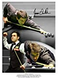 HAND SIGNED 16x12 MONTAGE PHOTO SNOOKER RONNIE O'SULLIVAN