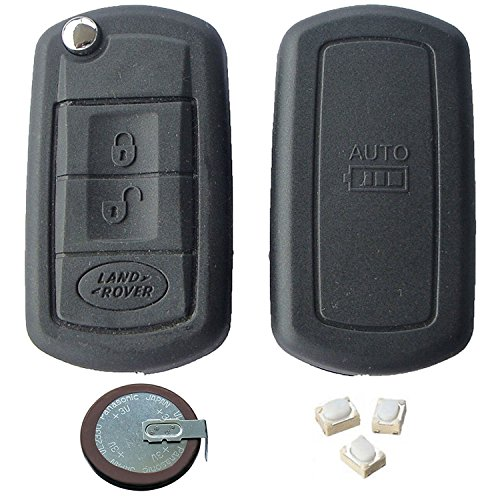 please check compatibility from product photo First2savvv Alumium Hard Keyless Remote Key Fob Flip Key Protection Case Cover Side Blades For RANGEROVER LandRover keyless remote control Smart Key Fob Holder SPORT/EVOQUE/DEFENDER -CAR-Land Rover-02