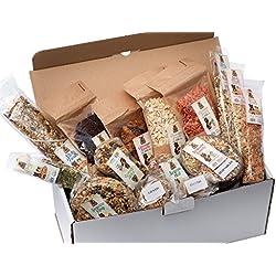 Lucas The Wombat For His Friends Surprise Box Garden XXL - Set von 14 Snacks und Leckereien mit Gemüse für alle Nager und Kaninchen. Mehr als 1300 Gr Hochwertiger Ergänzungsnahrung