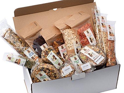 Lucas The Wombat For His Friends Surprise Box XXL - Set von 14 beliebtesten Snacks und Leckereien mit Gemüse für Alle Nager und Kaninchen. Mehr als 1300 Gr Hochwertiger Ergänzungsnahrung (Kaninchen-gemüse-sticks)