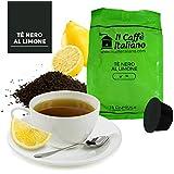 96 Cápsulas de té compatibles Dolce Gusto aroma de té negro al Limón , 96 Cápsulas compatible con maquinas Dolce Gusto, Paquete de 6x16 por un total de 96 Capsules, 96 cápsulas de té,Il Caffè italiano