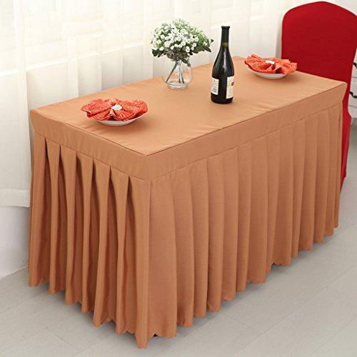Tischdecken Küche Wohnzimmer Meeting Cocktail Tischdecke Rechteckige Besprechung Tischdecke Tuch Tuch Tischdecke Zeichen Schreibtisch Tischrock Tischabdeckung Tischabdeckung Tischtuch ( Farbe : Braun , größe : 40*140*75cm )
