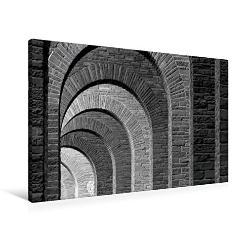 Premium Textil-Leinwand 90 cm x 60 cm quer, Bad Eilsen - Unter der Ahrensburger Brücke | Wandbild, Bild auf Keilrahmen, Fertigbild auf echter Leinwand, Leinwanddruck (CALVENDO Orte)