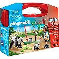 Playmobil City Life Panda Caretaker Carry Case Building Set 70105