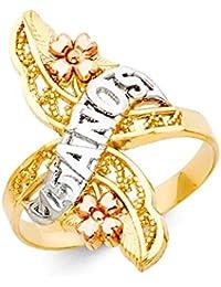 Paradise Jewelers anillo de quinceañera de las mujeres