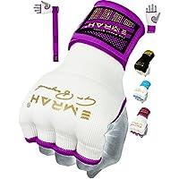 EMRAH Cinta Boxeo Vendas Mano Muñeca Elasticas Interiores Guantes MMA Envolturas Vendaje Kick Boxing -X (Medio, Púrpura)
