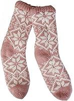 ROSA M Hüttensocken mit ABS Kuschelsocken Haussocken Socken Teddysocken Norweger