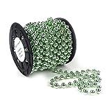 Catena di perle per decorazioni da tavolo, Natale/avvento/matrimonio, merce al metro S-p6-03-gold-10m
