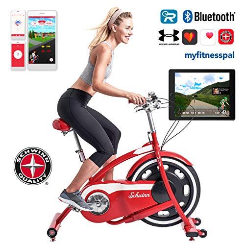 Schwinn Classic Cruiser - stylischer Heimtrainer mit neuer Technologie | Smartphone und Tablet Anbindung über Bluetooth | RideSocial & Classic Cruiser App
