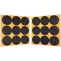 HaftPlus - 18 Feltrini Adesivi Neri Rotondi per Mobili, Forte Tenuta, Ø 28mm, H 3mm, Dischi Feltro Sottomobile per Protezione Pavimento e Parquet