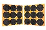 HaftPlus - Filzgleiter selbstklebend 18 Stück, Stuhlgleiter in Schwarz, Möbelgleiter Durchmesser Ø 28mm, Kratzschutz für Stühle, Tischbeine, Möbel