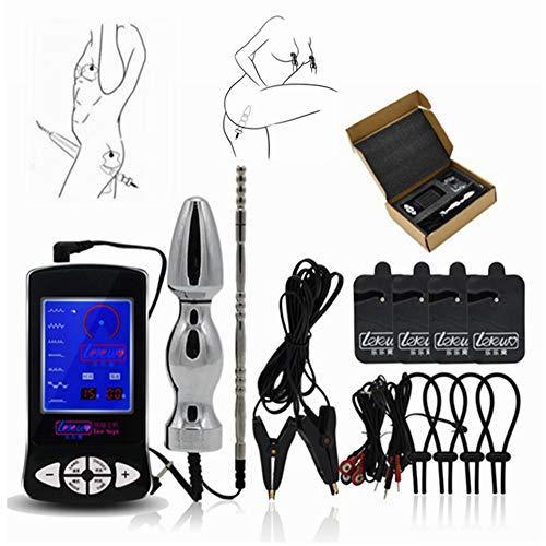 SchwarzSex Sex Orgasmus Electro Sex Kit Elektroschock Cock Ring Massage Pad Nippelklemmen Medizinische Themen Sexspielzeug Für Männer Frau Gay