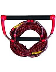 Jobe Hantel Omnia Handle - Cuerda de esquí acuático y deportes de arrastre, color rojo, talla única