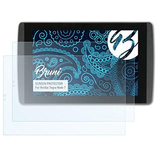Bruni Schutzfolie für Nvidia Tegra Note 7 Folie, glasklare Bildschirmschutzfolie (2X)