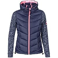 Superdry Damen Zipper Storm Hybrid Ziphood Slate Grey Marl White